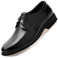 APPLE 苹果鞋 男士英伦系带商务休闲正装舒适皮鞋子 98182 黑色 42