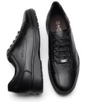 goldlion 金利来 男士简约舒适时尚透气男士休闲鞋538820014AQA-黑色-42码