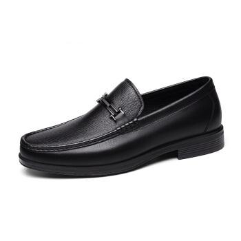 goldlion 金利来 男士商务休闲皮鞋舒适轻质透气时尚 596830192ALB-黑色-39码