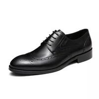 goldlion 金利来 男士商务正装舒适透气时尚雕花皮鞋582730230ADA-黑色-41码