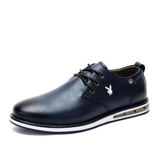 PLAYBOY 花花公子 男士英伦时尚系带商务休闲鞋 CX39226 深蓝 43