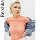Bershka女士 2019春夏新款短袖修身薄款针织镂空上衣 01861326638 49元