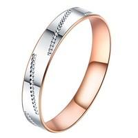 黛慕妮(DEMONE) SR0482KJ 18K金戒指简约轻奢圆圈指环
