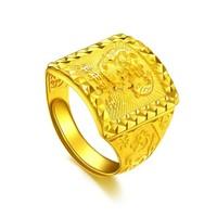 潮宏基 CHJ JEWELLERY 年年有余 足金黄金戒指男款 计价 SRG30001136 约15.55g