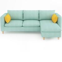 择木宜居 布艺沙发组合 180cm三人位 脚踏