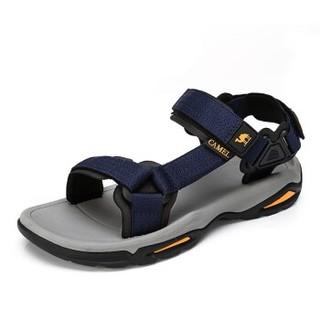 CAMEL 骆驼 户外沙滩潮流防滑平底休闲男士凉鞋子 A822162412 黑色 41