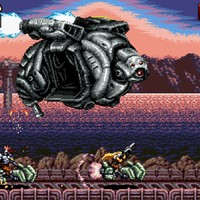 《炽热合金》复古横版射击PC游戏