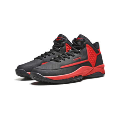ERKE 鸿星尔克 篮球鞋运动鞋新款减震耐磨休闲护脚运动球鞋 51118304152 正黑/大红 43