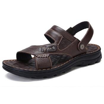 骆驼  W822287612 男士休闲拖鞋