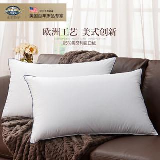 派赛菲特 PacificCoast 羽绒枕头 希尔顿酒店三腔95%匈牙利白鹅绒枕芯 白色一只48*74cm