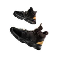 ANTA 安踏 91911190 篮球系列 男子篮潮时尚篮球鞋休闲鞋 黑/金属金 6.5 (男39)
