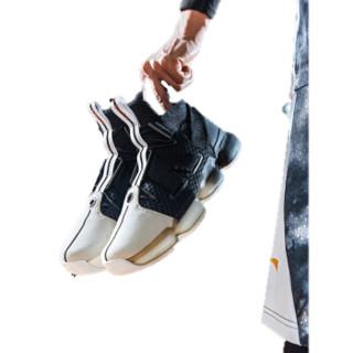 ANTA 安踏 91911190 篮球系列 男子 篮潮时尚篮球鞋休闲鞋 安踏白/黑 9.5 (男43)