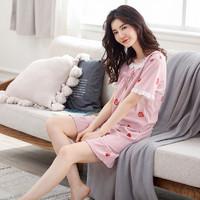 俞兆林 女式夏季草莓睡裙 L/XL码
