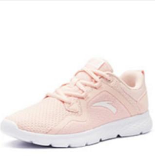 ANTA 安踏 跑鞋系列 92915520 女鞋跑步鞋2019新鞋新款休闲鞋小粉鞋缓震跑鞋运动鞋女 婴儿粉/安踏白 7(女38)