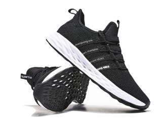 ERKE 鸿星尔克 女鞋运动鞋轻便跑鞋休闲鞋弹力耐磨跑步鞋女 52118403251 正黑 37