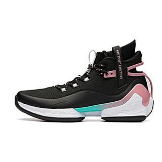 ANTA 安踏 篮球系列 11911620 篮球鞋男UFO2代-异形高帮战靴实战篮球鞋 黑/藕粉/安踏白 8.5(男42)
