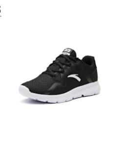 ANTA 安踏 女鞋跑步鞋2019新鞋新款休闲鞋小粉鞋缓震跑鞋运动鞋女 92915520  黑/安踏白 5.5(女36)