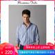 Massimo Dutti 00143043403 男装 修身版混色织纹条纹棉质衬衫 150元