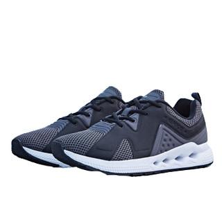 ERKE 鸿星尔克 男鞋运动鞋男跑步鞋防滑网鞋网面时尚复古休闲鞋 51118320072 碳灰 44
