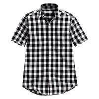 lativ 诚衣 40450 男士格纹短袖衬衫