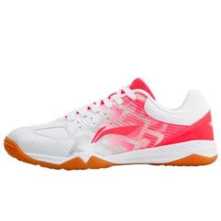 LI-NING 李宁 羽毛球系列  羽毛球鞋女款为运动而生级夏季国家队赞助品牌乒羽运动鞋 APPM004-1 白红色 38/7.5