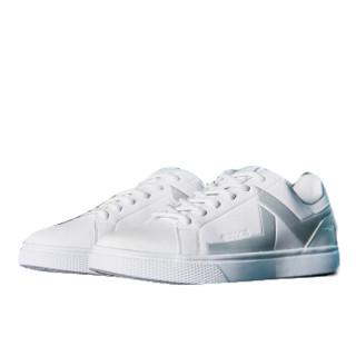 ERKE 鸿星尔克 男子休闲鞋新品男子耐磨防滑运动鞋滑板鞋小白鞋 51118401076 正白/亮银 40