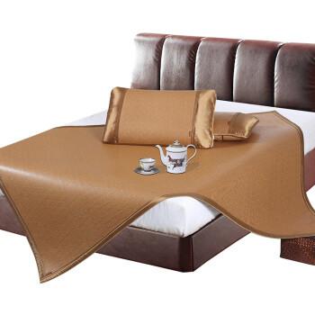 黄古林  玉檀藤席夏季凉席 可折叠加密编制抑菌透气双人席子 三件套 1.8米床 180*200cm