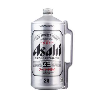 ASAHI/朝日啤酒 超爽生啤 2L桶装 日本原装进口