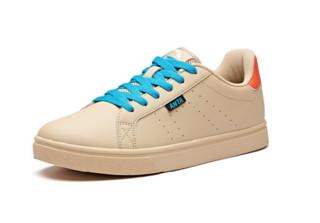 ANTA 安踏 生活系列 男士运动板鞋 91628004 燕麦灰/荧光热力橙 42.5