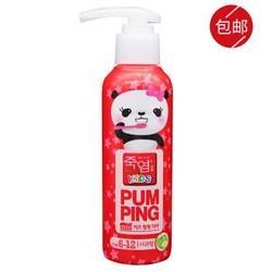 竹盐 lg儿童牙膏6-12岁按压式韩国进口牙膏牙刷套装 6-12岁 青青苹果(颜色随机)