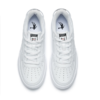 QIAODAN 乔丹 女鞋休闲女空军一号厚底板鞋运动小白鞋女 XM2690550 白色/黑色 37