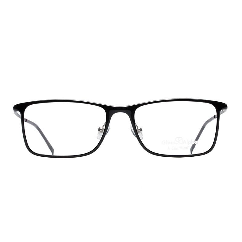 Charmant 夏蒙 GA38008 BK 近视眼镜架-+赠依视路1.56防蓝光镜片