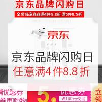 促销活动 : 京东 品牌闪购日疯抢专场