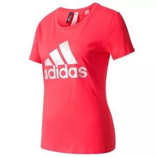 adidas 阿迪达斯 运动休闲服女款 网羽球服T恤 羽毛球服 BP8400 XL码 红色