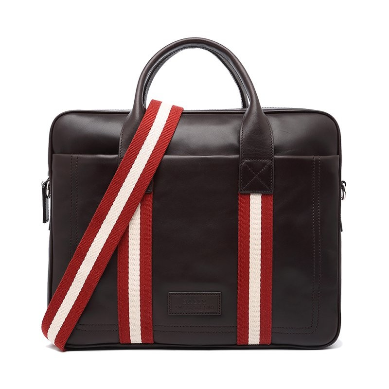BALLY 巴利 男士黑色牛皮手提包