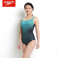 speedo 速比涛 510271 女士泳衣保守连体三角抗氯游泳衣