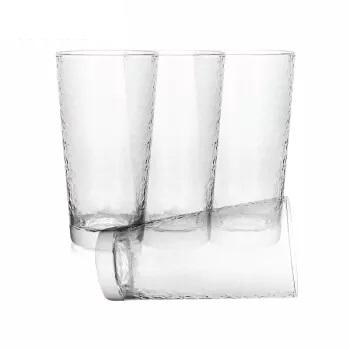 京东京造 P1012-1 钠钙玻璃杯 401-500ml 无色透明