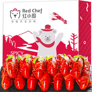 星农联合 红小厨 麻辣小龙虾1.5kg 4-6钱/25-38只 净虾750g *5件