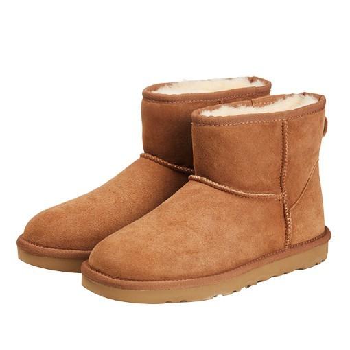 JIWU 苏宁极物 短款女士雪地靴  JWXZ001 栗色 38