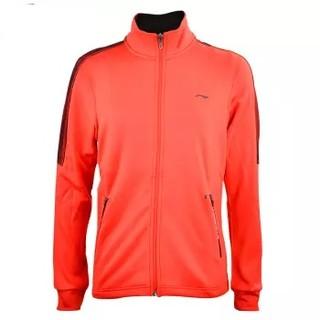 LI-NING 李宁 套装瑜伽健身运动户外跑步训练休闲开衫外套上衣 AWDN912-3 M码 女款 样品红
