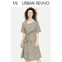 URBAN REVIVO WG33S7EN2002 格纹腰带型连衣裙