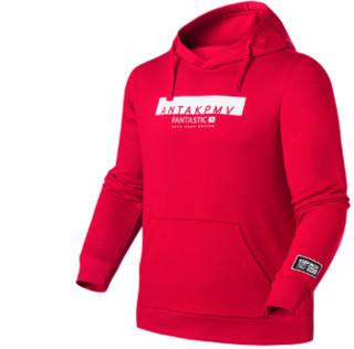 ANTA 安踏 生活系列  95838703-3  连帽套头卫衣男新款运动外衣 A13559枫叶红   2XL(男185)