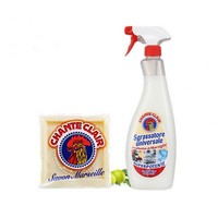 Chante Clair 大公鸡 清洁套装 (油污净625ml+马赛洗衣皂300g) *2件