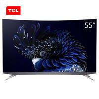 TCL 55Q960C 55英寸 4K 量子点 曲面液晶电视