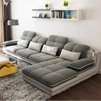 A家家具 DB1544 透气棉麻沙发 三人位 贵妃位