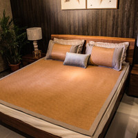 Mian 眠度 冰丝+印尼腾双面可用凉席三件套 1.5米