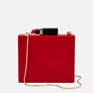 历史低价 :  LULU GUINNESS 女士口红箱型单肩包