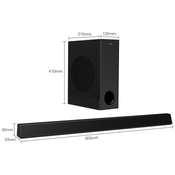 飞利浦(PHILIPS)HTL3310回音壁 家庭影院 soundbar 无线低音炮 电视环绕音箱 HTL3310