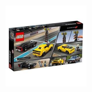LEGO 乐高 超级赛车系列 75893 2018道奇挑战者SRT和1970道奇战马RT赛车