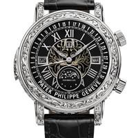Patek Philippe 百达翡丽 超级复杂功能时计系列 6002G-010 天文陀飞轮腕表